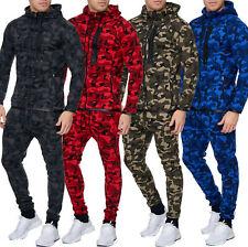 Herren Camouflage Army Jogginganzug Jogging Hose Jacke Sportanzug Military