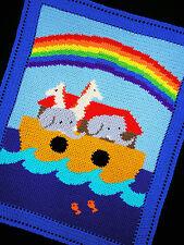 Crochet Patterns - NOAH'S ARK Color Graph/Chart BABY AFGHAN Pattern
