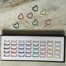 Nasenring Ring Herz Form Farbwahl 8 x 0,5 mm Helix Tragus Ohr Nasenpiercing