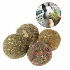1pcs Pet Teeth Grinding Ball Natural Grass Toys For Guniea Rabbit Pig Chinc K0S4