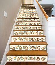 3D Flower Vine 011 Stair Risers Decoration Photo Mural Vinyl Decal Wallpaper AU
