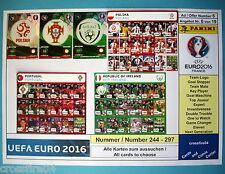 Panini Adrenalyn em euro 2016-Polska, Portugal, R Ireland todas las tarjetas 244 - 297