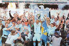"MANCHESTER CITY FC ""2011/2012 BARCLAYS PREMIER LEAGUE CHAMPIONS"" POSTER - Soccer"