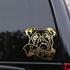 Bulldog Love Decal Sticker Dog French English Boxer Adopt Window Laptop Bumper