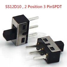 Interruptor DPDT Enganche 100 MA @ 12 V DC diapositiva Interruptor Deslizante De Pcb Doble Polo de doble tiro