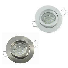5 x 230V LED Deckenlampe Deckenleuchte Einbaustrahler Einbaulampe Set GU10 1,2W