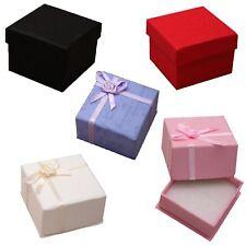 2 x Jewellery Boxes - Necklace, Earring, Bracelet - 5cm x 5cm Choose Colour