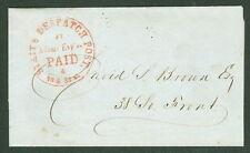 1850's, 61l4var, 1¢  Eagle City Post tied on folded letter PF certificate