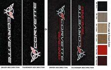 Lloyd Mats C5 Corvette Sideways Facing Logo Velourtex Floor Mats (1997-04)