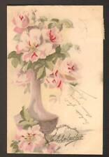 FLEURS dans VASE par A. LE LOUTRE avant 1904