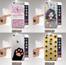 Cover per,Iphone,TRASPARENTE,tumblr,aesthetic,morbido,gatto,fiori