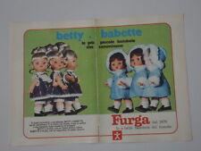 advertising Pubblicità 1971 BAMBOLE FURGA BETTY/BABETTE