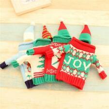 Ugly Christmas Sweater Festive Seasonal Wine Bottle Cover Xmas Gift BL3