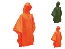 CI Regenponcho Safety Poncho Regenmantel Regencape Oliv Orange 200x140cm