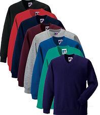 Russell Jerzees 272B Plain Kids Childs School Vee V-Neck Jumper Sweatshirt