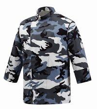 EGOCHEF Kochjacke Artic Camouflage (atmungsaktiv) Gr. S-4XL Made in Italy ★KULT★