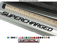 DoorStep SuperCharged x4 Decal Vinyl Sticker Overlay door step sill supercharger