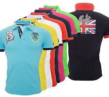 HOMBRE ROYAL Camiseta Polo de manga corta camisa verano Inglaterra h-038