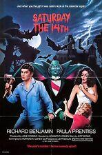 Saturday the 14th 1981 Farce/Horror Classic Movie POSTER