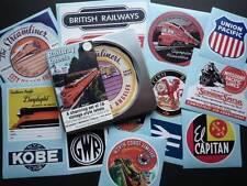 Vintage Style Rail Luggage Label Stickers Set of 15 Gift Tin Train Railway Vinyl