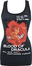 LADIES BLACK TANK TOP BLOOD OF DRACULA VINTAGE HORROR B-MOVIE VAMIRE GORE S-2XL