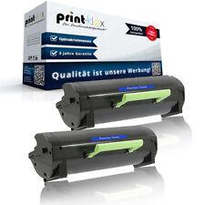 2x compatible Cartucho de toner para Lexmark 60f2h00/602h LASER - Impresora