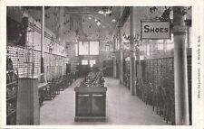 Postcard Shoe Department J Miehle & Son Pottsville PA