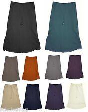 Femmes entièrement doublé georgette mousseline de soie taille élastique jupes