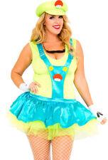 Plus size womens Luigi video game adult costume
