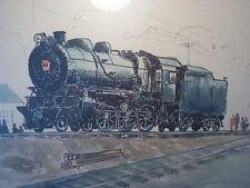 Orig. water color painting L.I. RAILROAD R Delano 1956