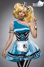 Alice im Wunderland Kostüm Set Damen Fasching Karneval Alicekostüm Mottoparty