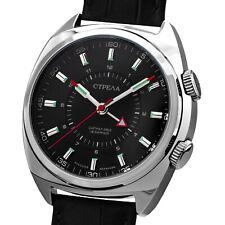 STRELA ®Wecker Uhr mechanisch 44mm Handaufzug Poljot 2612 Armbandwecker SIGNAL