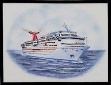Original Art Work ...ms FANTASY...cruise ship... Carnival Cruise Line