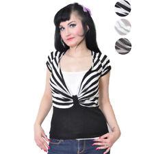 Süßes Strick STRIPES Shirt 2-Lagen-Optik Vintage Rockabilly