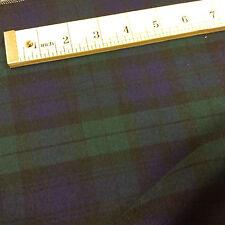 Black Watch Tartan Fabric Material - Extra Wide