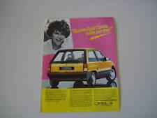 advertising Pubblicità 1986 OPEL CORSA 1.3 GT