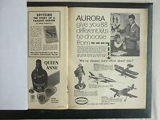 3/1961 PUB PAPIER MAQUETTE AURORA HOBBY KITS / QUEEN ANNE RARE SCOTCH WHISKY AD