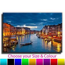 Venice Grand Canal Landscape Single Canvas Wall Art Picture Print 1