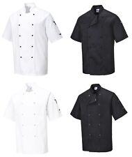 Kochjacke kurzarm, Kochbekleidung, Gastronomie, Bäcker, Kochmütze, PORTWEST
