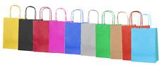Poignées de luxe sacs de fête - sac cadeau en papier Kraft torsadés - sac Recyclable butin SM