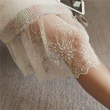 Ladies Lace Slip Skirt Extender Knee Length A-Line Flower Underskirt Petticoat