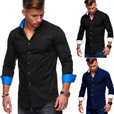 BEHYPE Herren Hemd Polo Slim Fit versch. Farben Schwarz/Weiß/Blau/Navy NEU