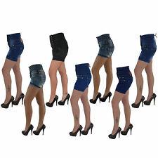 Corsagen Hot Pants Jeans Hochschnitt Shorts Capri Hotpants Kurze Hose 123