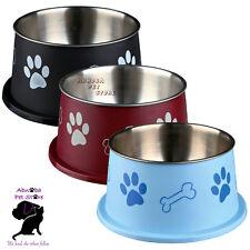 Tazón de fuente de oreja Trixie Largo Para Agua O Comida para Perro Spaniel Tipo De Acero Inoxidable Antideslizante