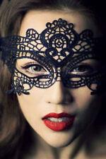 Antifaz mascara encaje adulto sexy puntilla negro fiestas eventos disfraces