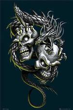 Gothic - Dual Skulls - Poster Druck - Größe 61x91,5 cm