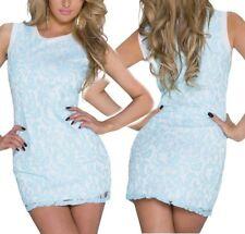 SEXY MISS Femmes Girly romanitk dentelle dress S/M 34/36 M/L 36/38 Blanc Aqua NEUF