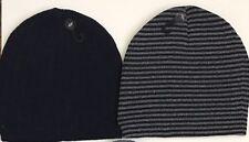 Knit Beanie Winter Hats/Men women- Comfortable- Dark Blue/ Dark Blue-Gray