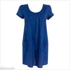 Debenhams Rouge Hareng Coton Bleu Dos En Trou De Serrure Robe Été
