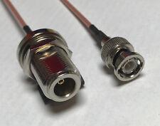 BNC Male to N Female Bulkhead Coaxial RG316 CABLE Wireless Antenna USA High Qual